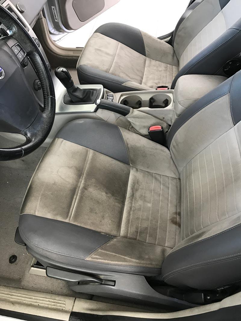 Pred globinskim čiščenjem avto sedežev