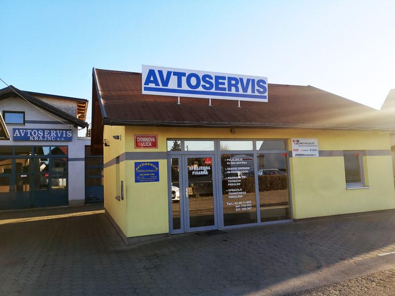 Avtoservis Krajnc Maribor lokacija